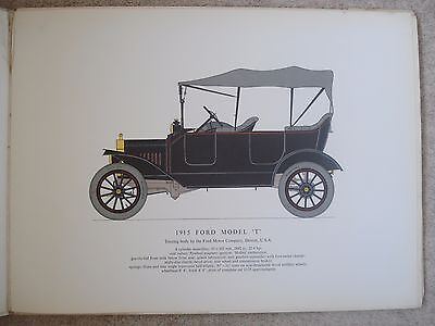 "Ford Model T-1915 Car-Vintage Print / Col Plate/ Picture For Framing-13.5"" X 18"""