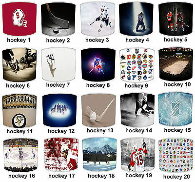 Lampshades Ideal To Match NHL Ice Hockey Duvets & NHL Ice Hockey Wall Decals.