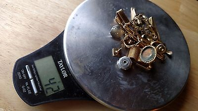 42 Grams Clean 10K 12K 14K GF Gold Filled Jewelry for Scrap Recovery Hallmarked