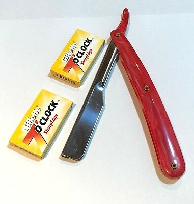 Professional Salon Straight Cut Throat Razor Shavette Rasoi Rasoir Quality Steel
