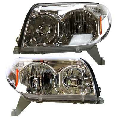 For 03-05 Toyota 4Runner 2 Headlights Headlamps Lights Lamps Pair Set Left Right