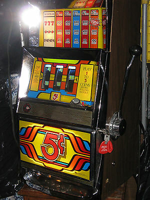 Antique Vintage Bally's Slot Machine'  ( Clean And In Beautiful Shape! )
