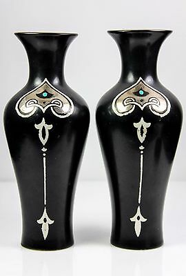 Pair Of Art Nouveau Shelley China Vases Pattern 776 C.1920'S
