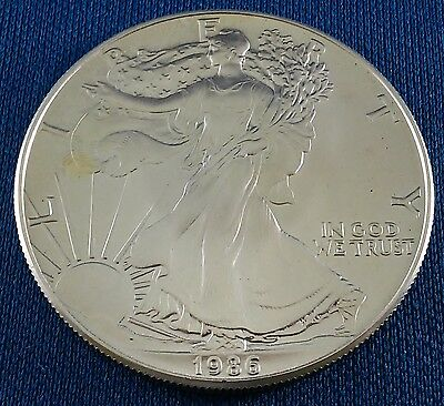1986 American Silver Eagle 1 Ounce .999 Silver Coin - First Year of Issue!