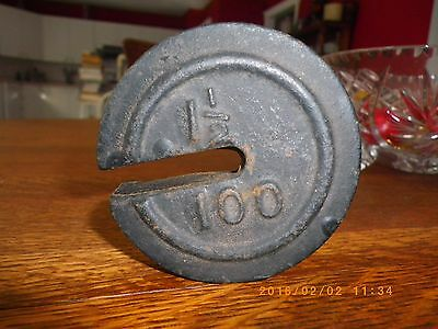antique rare cast iron weight for scale