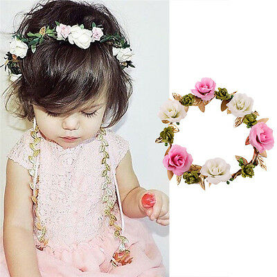 Baby Girl Flower Bow Headband Soft Adjustable Band Hairband Hair Accessories Hot