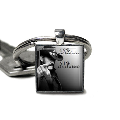 Lemmy Motorhead Keyring Quote Lemmy Kilmister hand made in UK by Dandan Designs