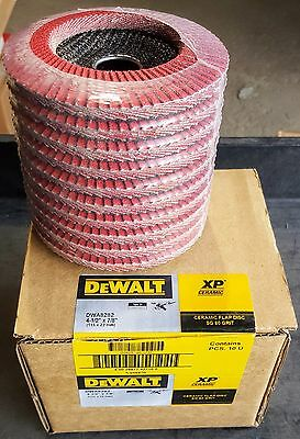 "(10-pack) DEWALT DWA8282 4-1/2"" x 7/8"" Ceramic XP T29 Flap Discs"