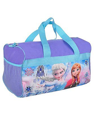 Disney Frozen Sisters Girls Purple Duffel Bag 18""