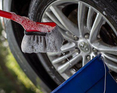Car Wheel Cleaning Brush Non-Slip Grip Soft Bristles Wash Equipment Accessory