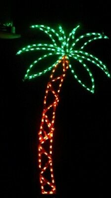 Tall Beach Palm Tree Holiday Outdoor LED Lighted Decoration Steel Wireframe