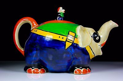 ROYAL VENTON WARE ART DECO CIRCUS ELEPHANT TEAPOT LAWLEYS PATTERN 2298 c.1923