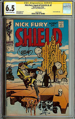 Signed Steranko Nick Fury #7 Agent of SHIELD CGC 6.5