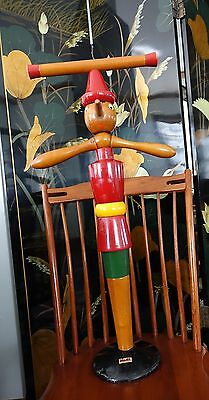 VTG 1940s Ma.Gi. Italy Wooden Pinocchio Child's Clothes Valet~Nice Condition