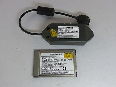 SIEMENS SIMATIC NET CP5511 + Hardware-Adapter C79459-A1890-A10 (4942-1)