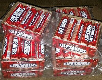 10 Cases Of Lifesavers Wild Cherry Hard Candy Suckers 100 Individual Rolls Lot