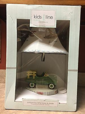 New Kidsline Lamp Base / Shade Night Antique Toy Lamp 5701Bs New In Box