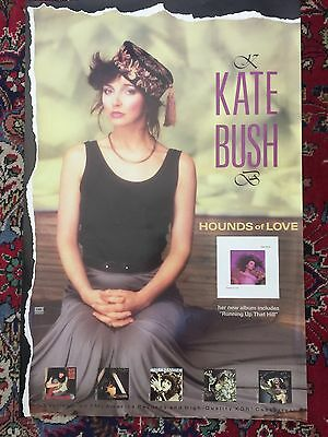 Kate Bush Super Rare EMI America Issued Promotional Poster for Hounds of Love