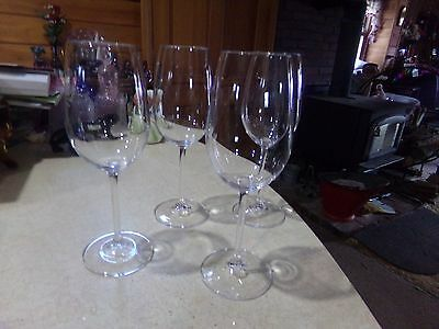 """4 Marquis Of Waterford Vintage White Wine Crystal Goblets 8 3/4"""""""