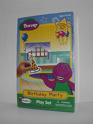 Barney Birthday Party Colorforms Play Set 1997 New Sealed Ages 3 & Up (7)