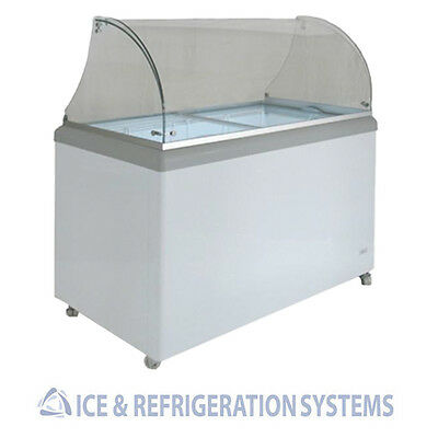 Sun Ice Commercial 8 Flavor Ice Cream / Gelato Dipping Cabinet Freezer SIDDC-8
