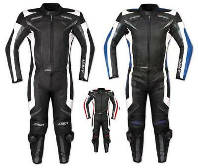 CF Armours Motorcycle Motorbike Racing Two 2 pcs Leather Suit Jacket Trousers