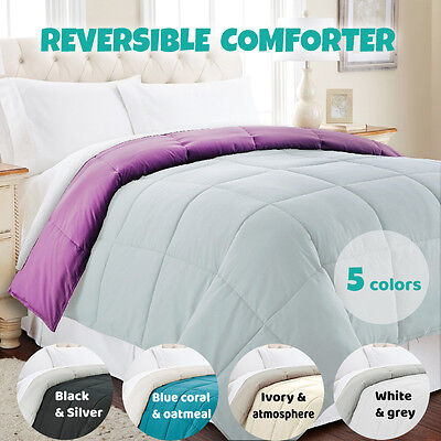 Queen King Summer Reversible Down Alternative Comforter Bedspread Quilt Doona