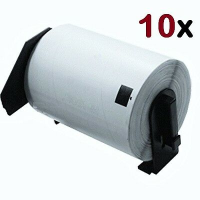 10 Rolls of DK-1241 BROTHER Compatible Labels All With Permanent Cartridge Frame