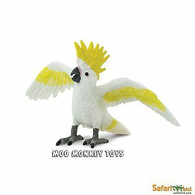 COCKATOO parrot  Safari Ltd # 263829  Wings of the World Bird REPLICA NEW 2016