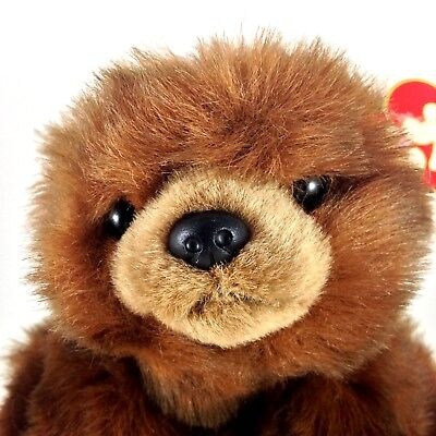"""Ty Classic 1996 Baby Paws Sable Brown Bear 12"""" Plush With Tag"""