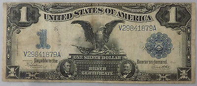 Series 1899 $1 Black Eagle Large Size Silver Certificate Choice Fine