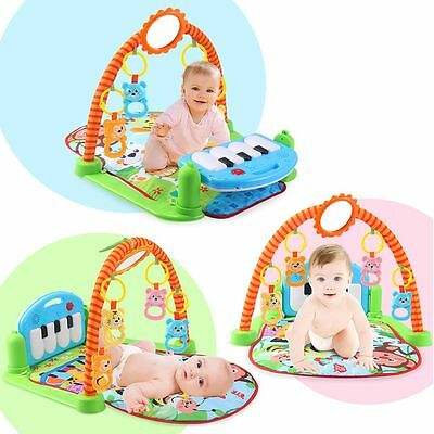 3 in 1 Rainforest Musical Lullaby Baby Activity Playmat Gym Toy Soft Play Mat CN