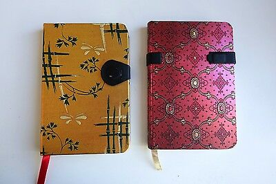 Set of 2 Paperblanks Lined Notebooks with beautiful metallic covers Great Gifts