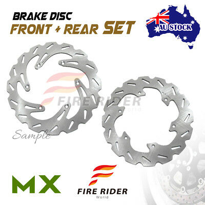AU MX Brake Disc Rotor Front Rear For YAMAHA YZ 125 2T 03-07 03 04 05 06 07
