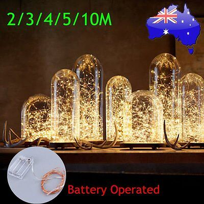 2/3/4/5/10M 4.5V Copper Wire Xmas Wedding String Fairy Light Battery Operated A#