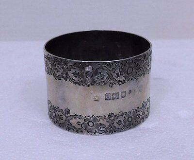 Antique English Sterling Silver (925) Napkin Ring - Holder 27.85 grams