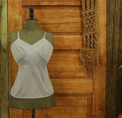 vintage hand dyed dusty lavender squiggle detail camisole slip top XS S