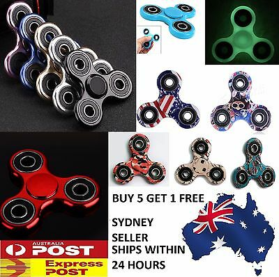 3D Fidget Hand Spinner Finger Toys EDC Focus Stress Reliever For Kids Alloy AU