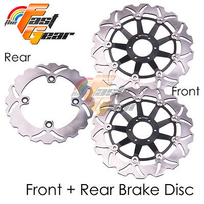 Front Rear SS Brake Disc Rotor Set For Honda CBR900RR Fireblade 94 95 96 97