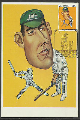 Australia 1982 Cricket Ashes Obituary Trumper Maximum Card Maxicard