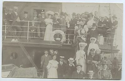 C1910 Rp Npu Postcard Passengers On The Gulf Trip Adelaide Steamship Co E90