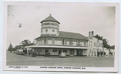 1940's Rp Npu Postcard Surfers Paradise Hotel Qld Sidues Series E94