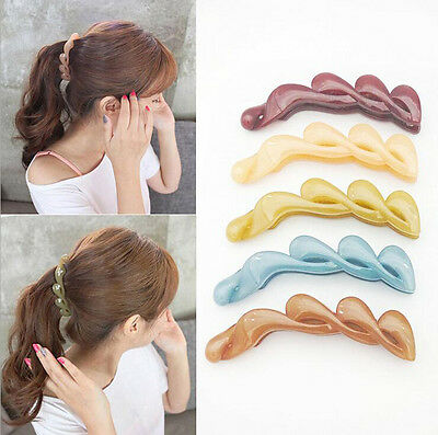 Fashion Banana Fish Women Hair Clips Hair Accessory Transparent Ponytail Holder
