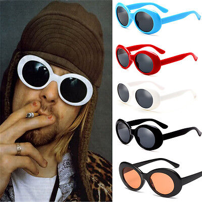 NIRVANA Mirrored Glasses Sunglasses Round Kurt Cobain For Women Men Vintage