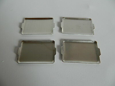 (Kp1-6) Dolls House Set Of Four Metal Trays