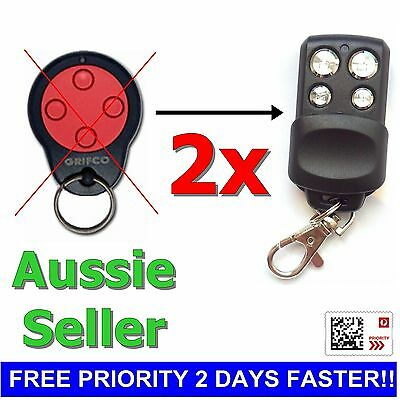 2x GRIFCO CG844-1A6487 Replacement Garage/Gate Remotes Control Griftco