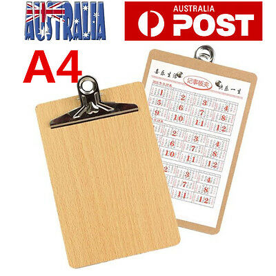 20PCS Wooden A4 Clipboard Hardboard Menu Board With Clip For Office Home School