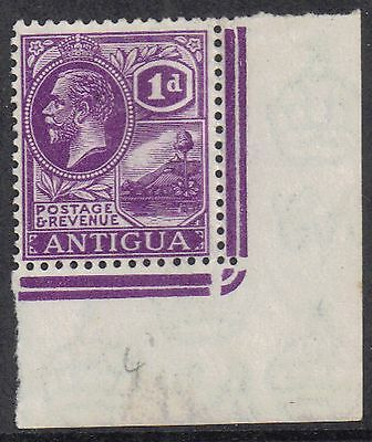 Antigua 1923 1d Bright violet George V (1910-1936) sg 64 Mint hinged