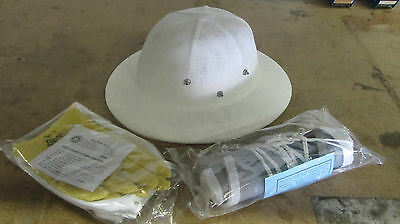 Bee Beekeeping hat veil gloves (size large) kit NEW!
