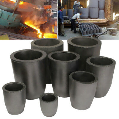Graphite Furnace Casting Foundry Crucible Melting Tool 1,2,4,6,8,10,12,16 kg New